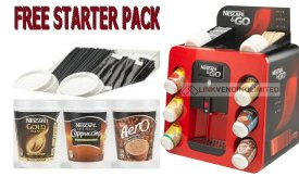 Nescafe and Go Machine with Starter Pack