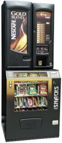 Incup Vending Machine with Snack Machine