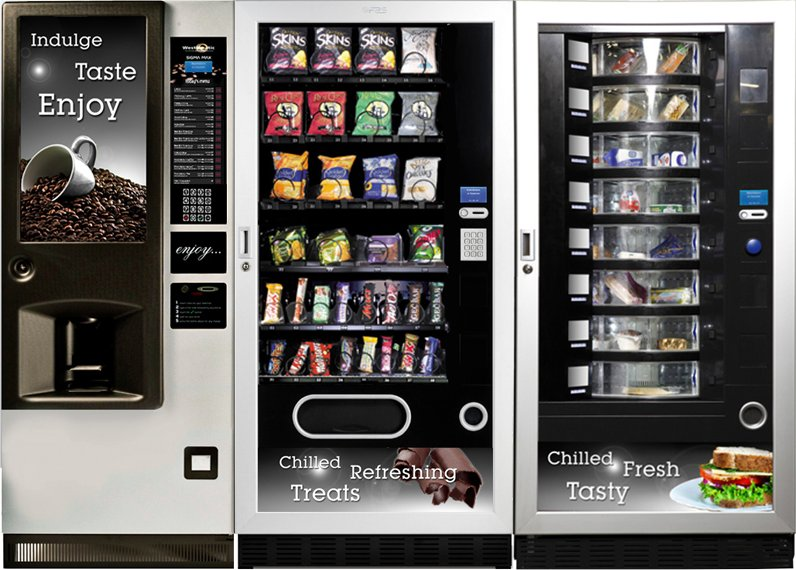 Vending Machine Bank Food Snacks and Hot Drinks