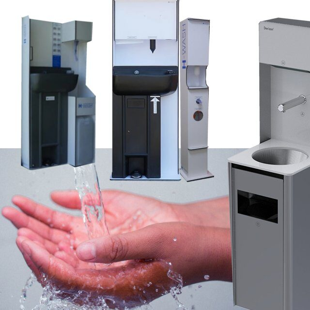 Hand Wash and Sanitise Stations